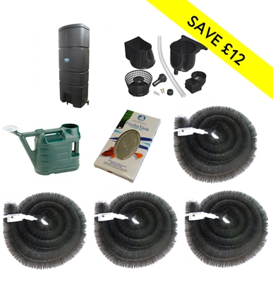 160L Wallmounted Single Rainwater Harvesting Package