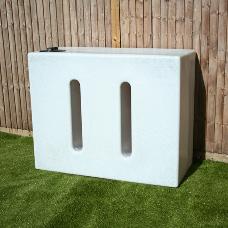 Marble Effect 1050L RainWater Tank in White Marble