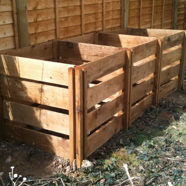 1150 Blackdown Range Triple Slotted Wooden Composter