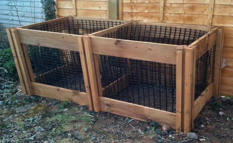 1200 Blackdown Range Double Leaf Mould Wooden Composter