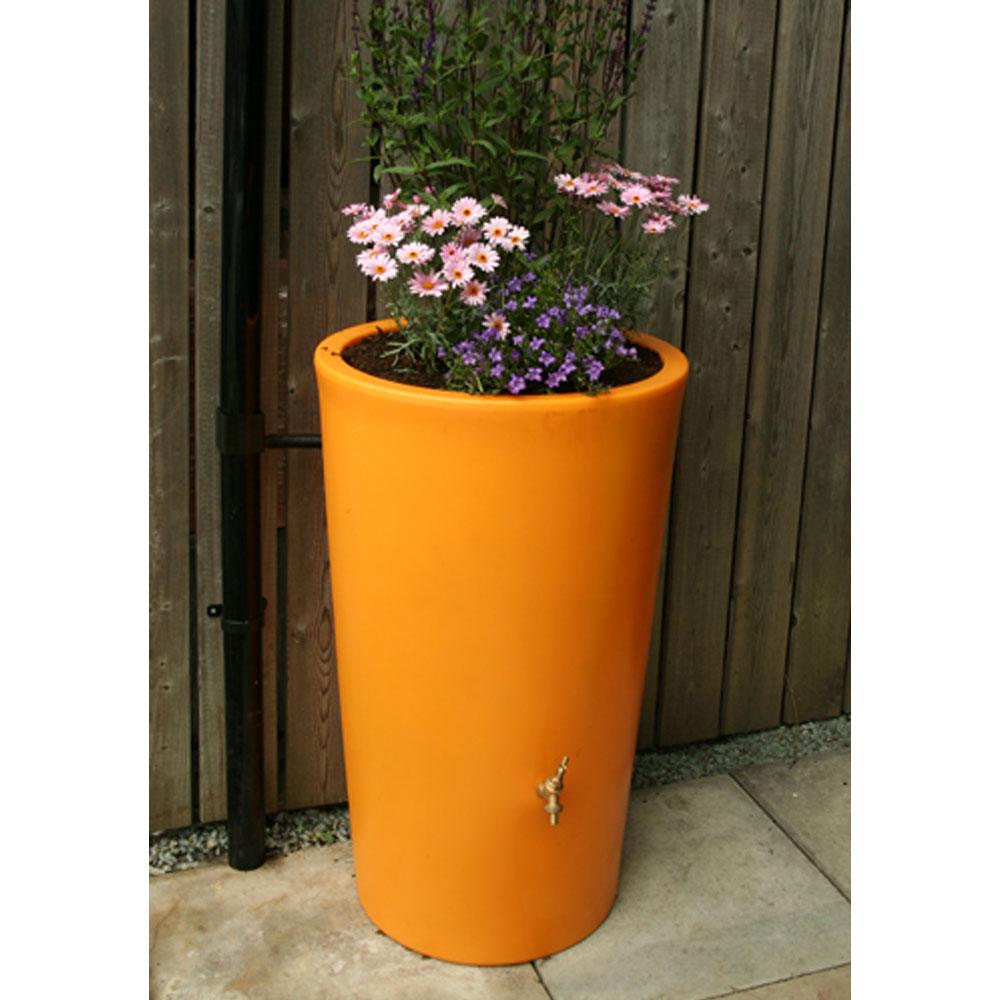 180L Garden Planter Water Butt Orange