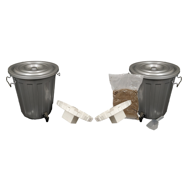 18L Double Bokashi Composter Kit with 2kg Bokashi Bran