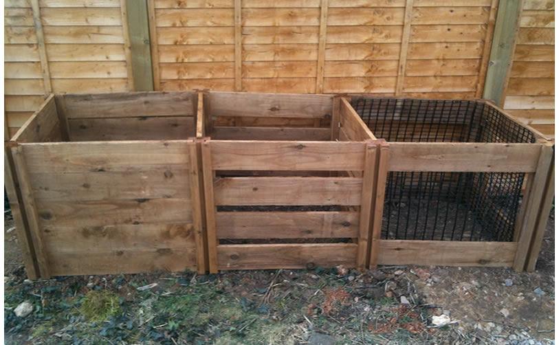 1900 Blackdown Range Triple Mix Wooden Composter