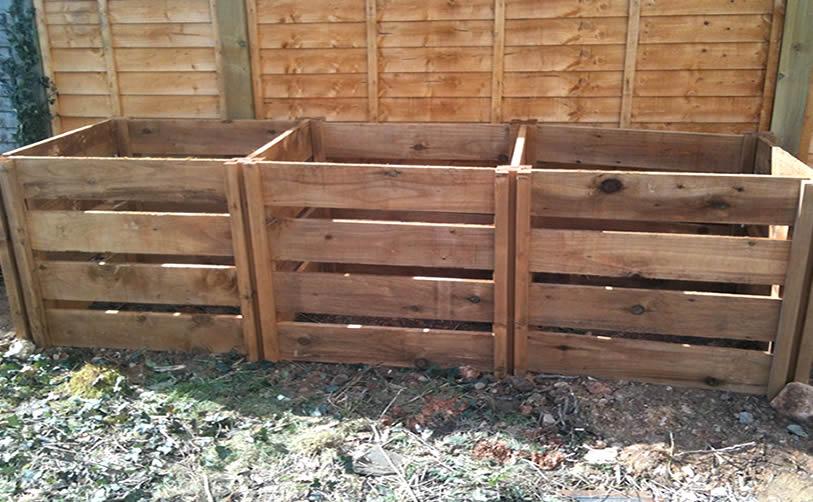 1900 Blackdown Range Triple Slotted Wooden Composter