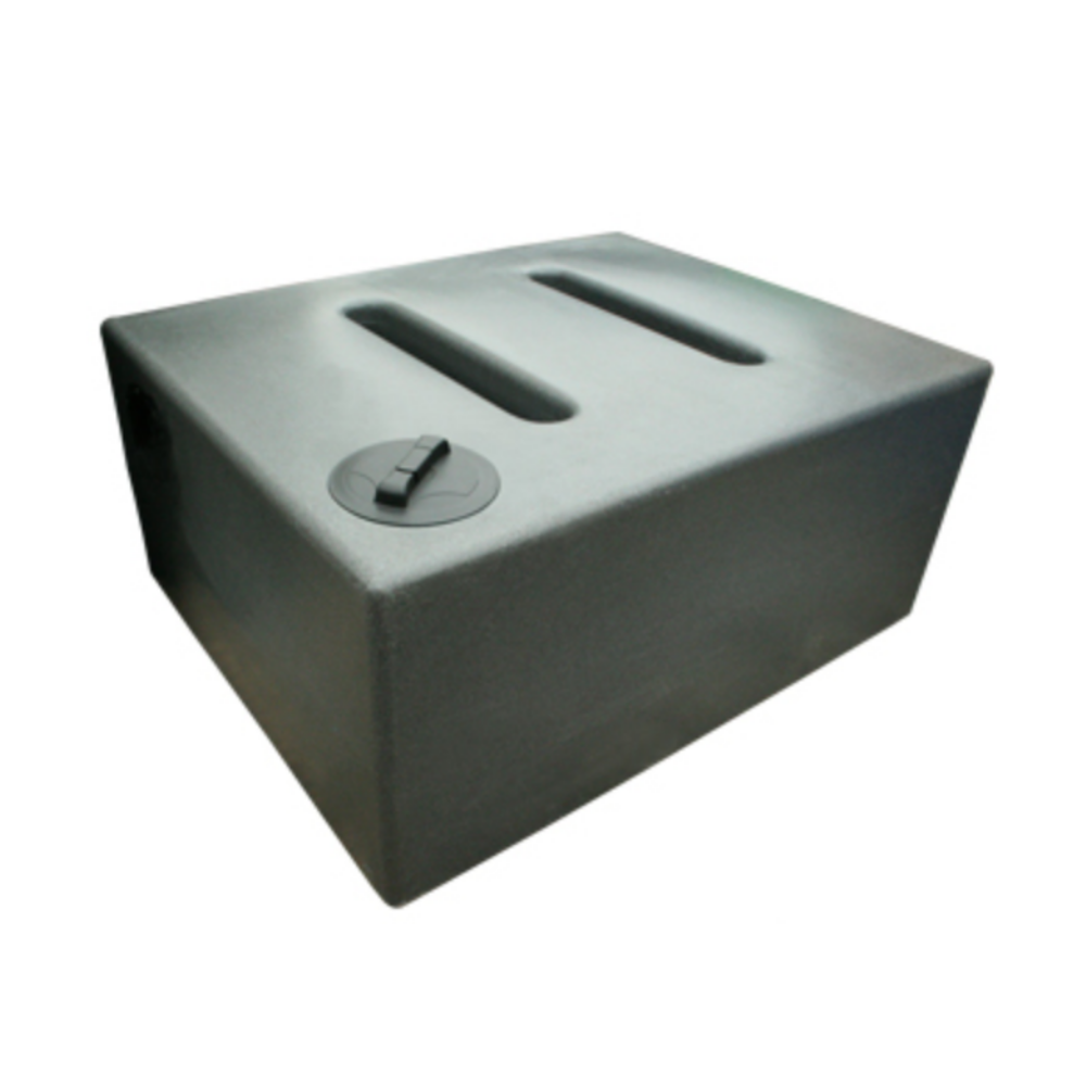 Layflat 1050 Litre Rectangular Baffled Water Butt in Millstone Grit