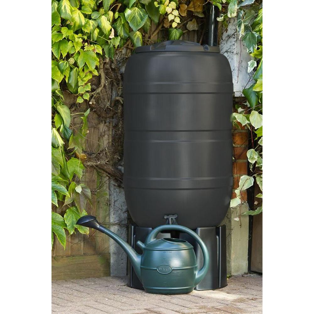 210L Black Standard Barrel Water Butt