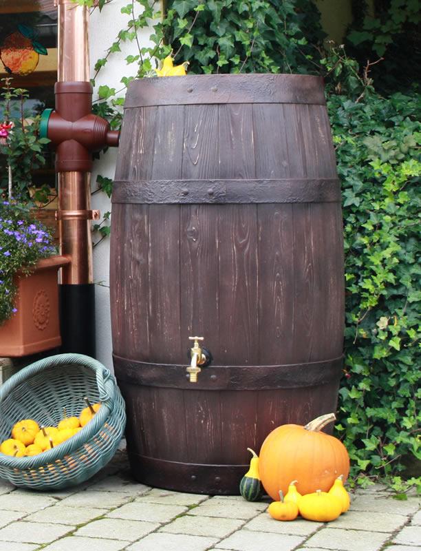 250L Barrique Oak Wood Effect Water Butt Barrel
