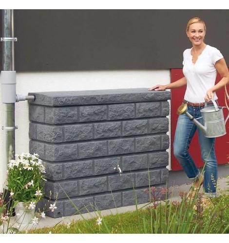 400L Rocky Wall Water Tank in Dark Granite