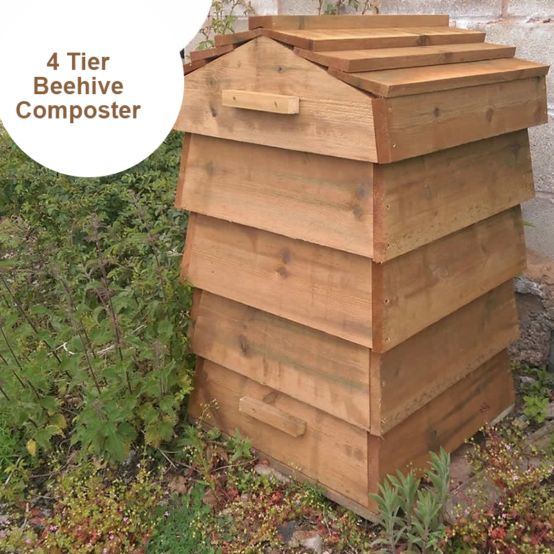 Blackdown Beehive Wooden Composter - 4 Tier - Pre Built