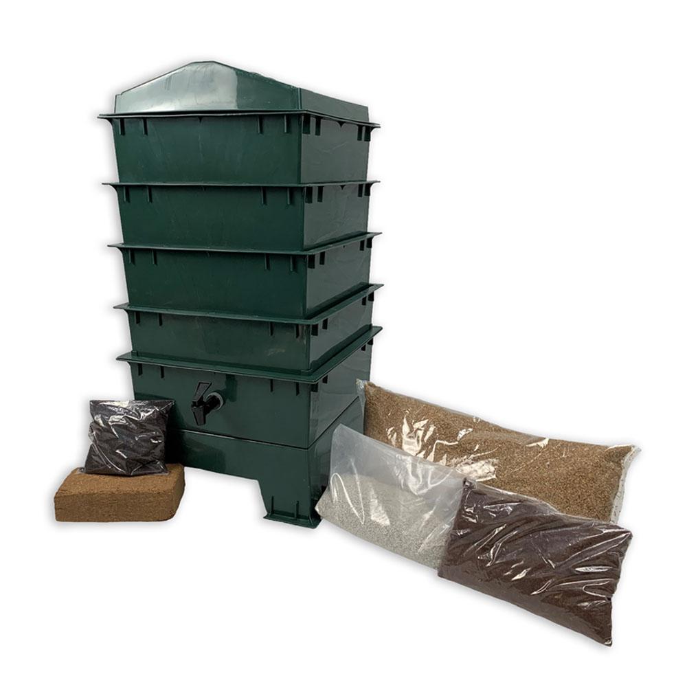 4 Tray Standard Pet & Dog Poo Wormery Green