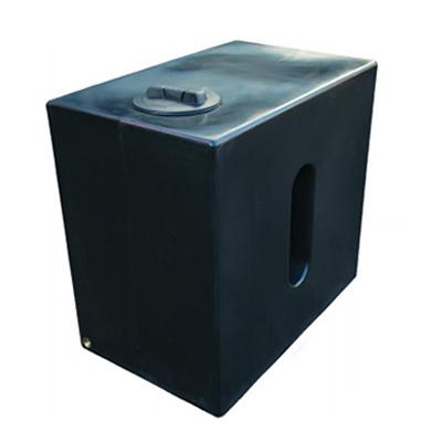 500L Cube Rainwater Tank in Black
