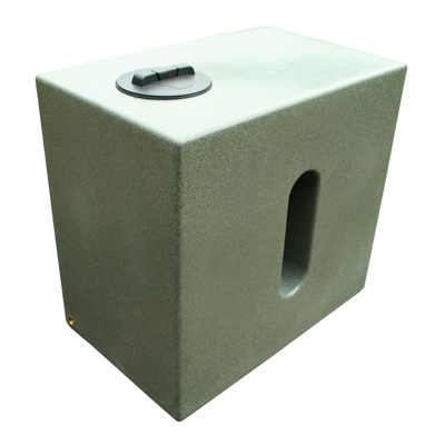 500L Cube Water Tank in Marble Green