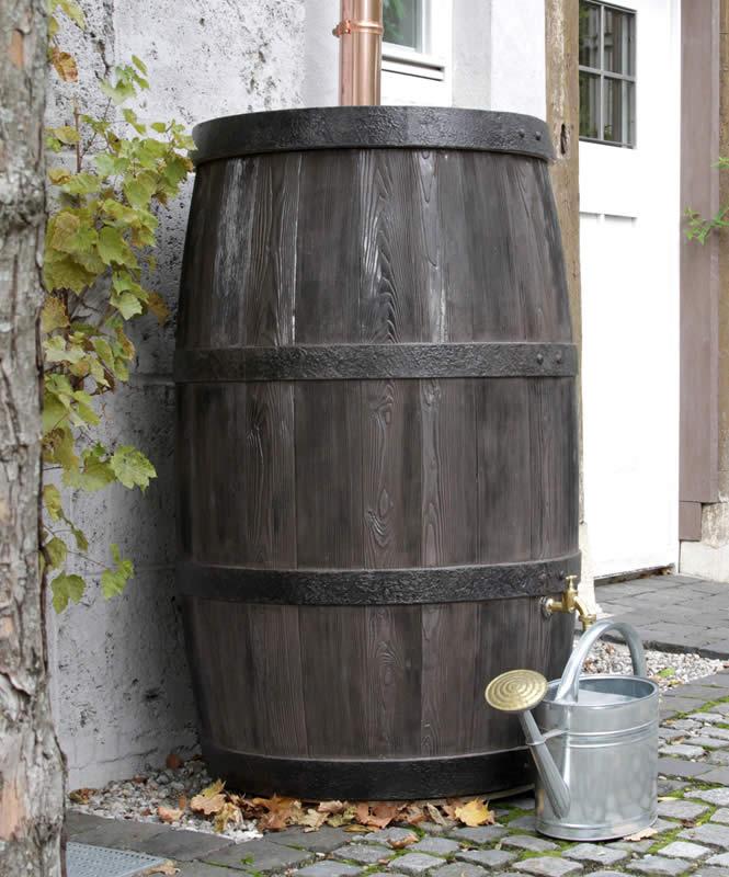 500L Wood Effect Water Butt Barrel
