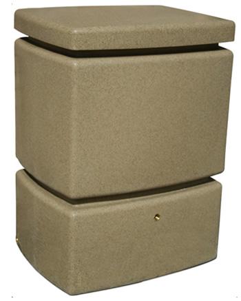525L Mini Pillar Marble Effect Rainwater Tank in Sandstone