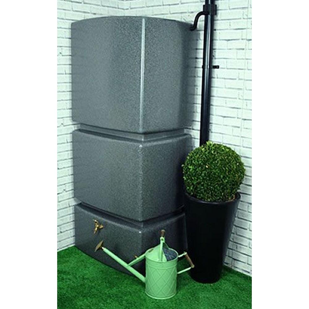 800L Vertical Slim Line Rainwater Tank in Millstone Grit