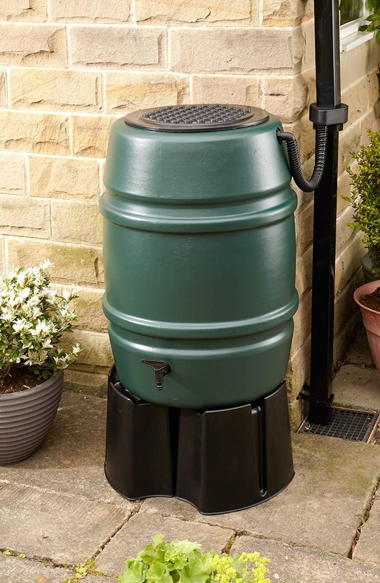 Harcostar 168L Water Butt Barrel With Stand and Diverter
