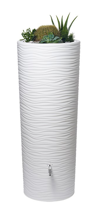 350L Natura 2 in 1 Water Tank with Planter - Arctic White
