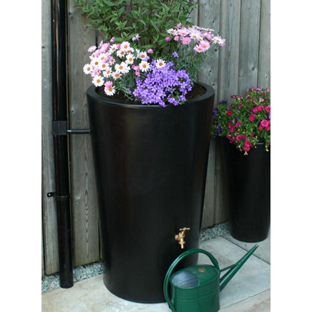 180L Garden Planter Water Butt Black