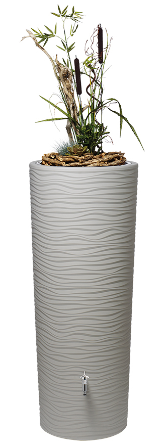 350L Natura 2 in 1 Water Tank with Planter - Beach Beige