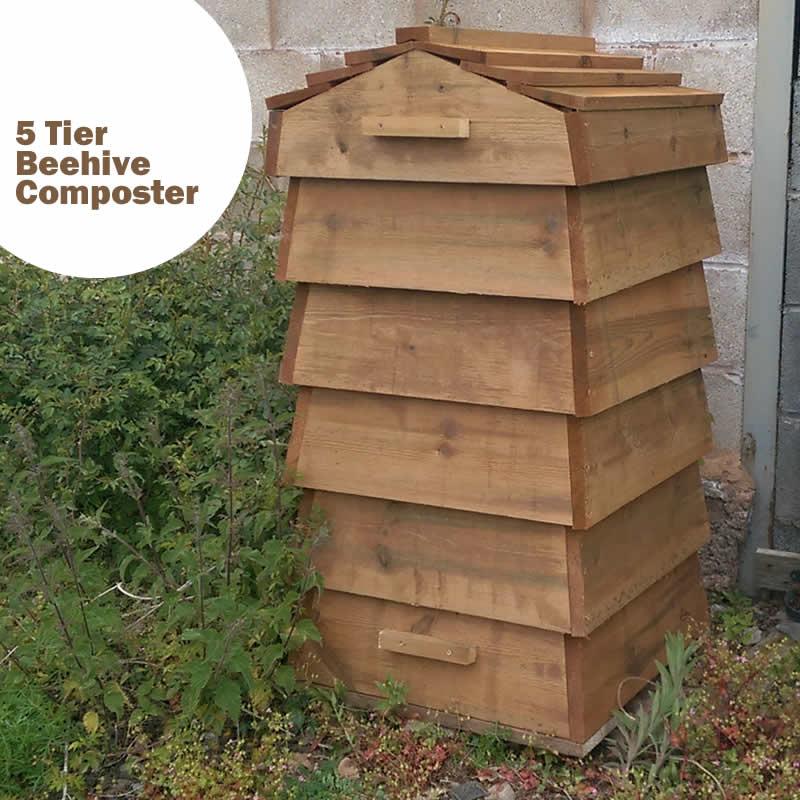 Blackdown Beehive Wooden Composter - 5 Tier - Pre Built