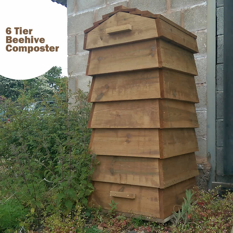 Blackdown Beehive Wooden Composter - 6 Tier - Pre Built