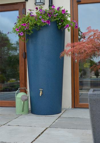 380L Garden Planter Water Butt Bluestone with Tap Kit & Diverter