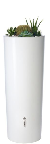 350L Opulent Colour 2 in 1 Water Tank with Planter - Coco White