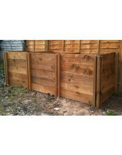 1150 Blackdown Range Triple Standard Wooden Composter