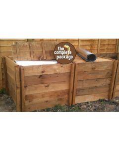 1200 Blackdown Range Double Deluxe Standard Wooden Composter