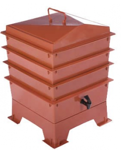 3 Tray Deluxe Tiger Wormery Terracotta