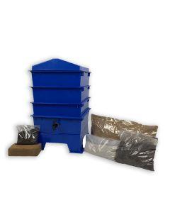 3 Tray Standard Pet & Dog Poo Wormery Dark Cobalt Blue