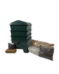 3 Tray Standard Pet & Dog Poo Wormery Green