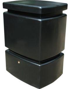 525L Mini Pillar Marble Effect Rainwater Tank in Black