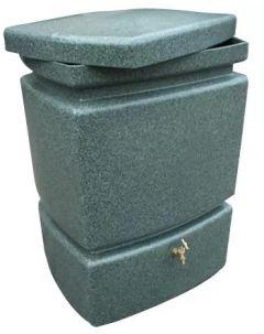 525L Mini Pillar Marble Effect Rainwater Tank in Green Marble