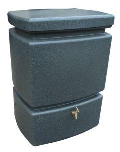 525L Mini Pillar Marble Effect RainWater Tank in Milstone Grit
