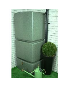 800 Litre Vertical Slim Line Rain water Tank in Marble Green