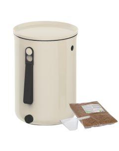 Bokashi Organko 2 Compost Bin (9.6L) Cream White with 2kg Bokashi Bran
