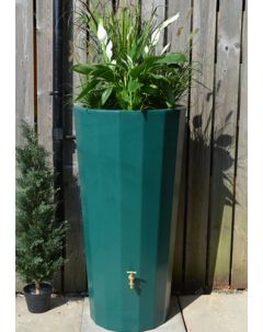 255L Metropolitan Water Butt with Planter in Dark Green