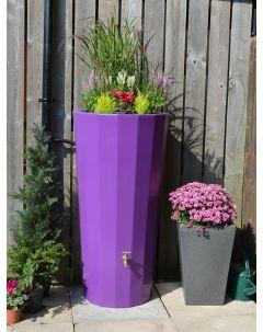 255L Metropolitan Water Butt with Planter in Purple