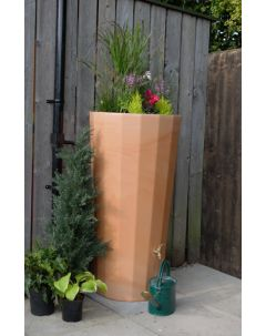 255L Metropolitan Water Butt with Planter in Wash Terracotta