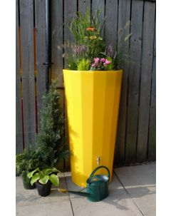 255L Metropolitan Water Butt with Planter in Yellow