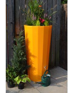 255L Metropolitan Water Butt with Planter in Zesty Orange