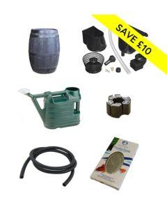 235L Oak Barrel Decorative Gardener Kit