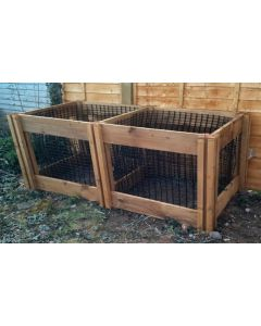 1200 Blackdown Range Double Leaf Mould Wooden Composter