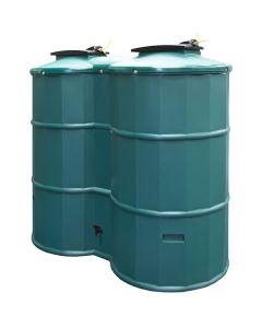 1500L Dual Polytank Water Tank - Green