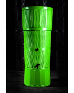 150L Rattan Wicker Effect Polybutt Water Butt - Lime Green