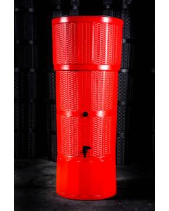 150L Rattan Wicker Effect Polybutt Water Butt - Red