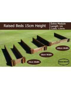 15cm High Extra Module for Raised Beds - Blackdown Range - 100cm Wide