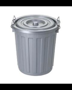 18 Litre Grey Plastic Bin & Lid