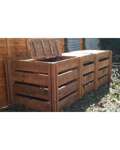 1900 Blackdown Range Triple Slotted Wooden Composter with Lids